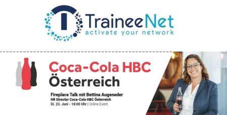 Online Fireplace Talk mit Bettina Augeneder, HR Direktorin Coca Cola, 23.06.2020
