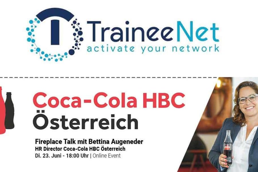 Online Fireplace Talk mit Bettina Augeneder, HR Direktorin Coca Cola, 23.06.2020